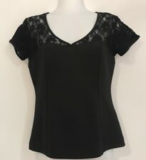 LAURA ASHLEY BLACK TOP SIZE 8 LIKE NEW EVENING / PARTY / EVENT