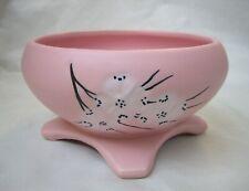 Vintage McCoy Pottery Spring Wood Line Dogwood Pattern Pink Planter 1960s