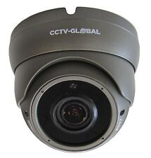 1080P GREY HD TVI AHD CVI ANALOGUE CCTV DOME CAMERA 2.8-12mm ZOOM LENS 30m IR