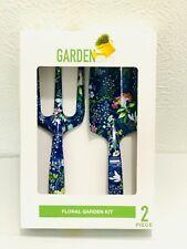 Garden Party Floral Garden Kit 2 Pc Spade & Rake