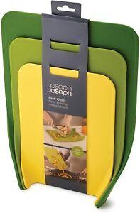 Joseph Joseph Nest Chop Standing Chopping Boards, Plastic, Green, Set of 3 NEW