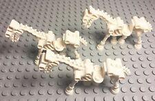 Lego Lot Of New White Skeleton Horse Mini Figure X3 Pieces