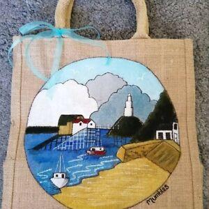 Large 'Mumbles Scene' Jute Bag