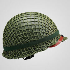 WW2 US ARMY TACTICAL PARATROOPER M1 HELMET AND COVER COTTON CAMOUFLAGE NET