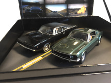 Pioneer Slot Car P050 Bullitt Set with P085 Mustang P086 Charger and Movie DVD