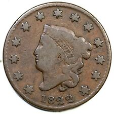 1822 N-9 R-5- Matron or Coronet Head Large Cent Coin 1c