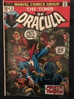TOMB OF DRACULA #13 (1973) KEY ISSUE- Origin of Blade. Around G/VG