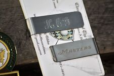 Masters Small Engraved Money Clip - Beautiful Three Initials Free