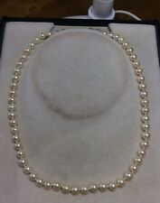 """VINTAGE GENUINE CULTURED PEARL NECKLACE WITH 14K CLASP APPROX 18"""" TOTAL LENGTH"""