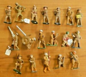 Vintage Mix Lot of Lead Soldiers Barclay England