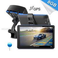 XGODY 8GB 5 Inch SAT NAV GPS Free Sunshade+Full AU EU Map Navigator Navigation
