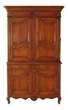 30065Ec: Large Cherry French Provincial Style Linen Press Cupboard