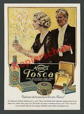 or. Farb-Reklame Ewald Linge 4711 Tosca Flakon Dame Art Deco Weihnacht Köln 1935
