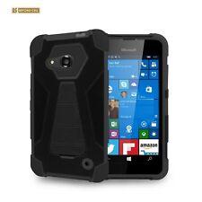 Lumia 550 Case,Tough High Impact Rugged Case W/Built in Kickstand-Black