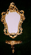 Wall Mirror + Storage Tray Console Set M Mirror 50X76 Antique Baroque Gold