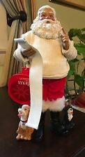 New W/Tags Santa With Pets -Santa Checking List Knit Sweater Hatless, Two Dogs