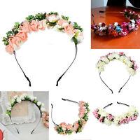 Wedding Party Prom Flower Garland Bride Headband Hairband Hair Accessories