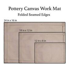 Canvas Pottery Mat (Heavy duty work mat), Hand building mat, Pottery Tools, Clay
