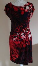 NEW WALLIS FLORAL WITH BUCKLE SMART PARTY WEDDING SUMMER TEA DRESS SIZE 12