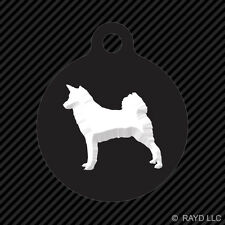 Canaan Keychain Round with Tab dog engraved many colors dog canine pet