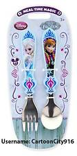 Disney Store Frozen Elsa Anna Fork And Spoon Set NEW