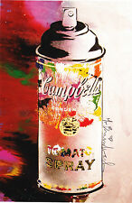 Mr Brainwash Campbells Tomato Spray andy warhol Pop Art Print show promo New