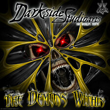 """HONDA TRX250EX 2001-2005 GRAPHICS DECALS """"THE DEMONS WITHIN"""" FOR YELLOW PLASTICS"""