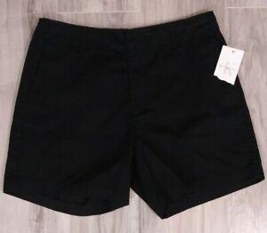 Calvin Klein Women's Size 10 Black Cotton Chino Shorts NWT