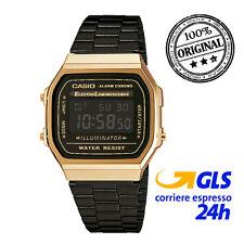 Orologio CASIO A168WEGB-1BEF Uomo Donna Unisex VINTAGE digitale watch Acciaio