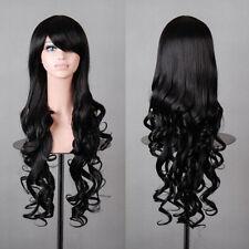Hot Fashion Long Wavy Curly Anime Cosplay Wig Kanekalon Fibre Synthetic Hair