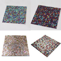 Mosaic Self Adhesive Wall Tile Kitchen Bathroom Backsplash Panels Peel and Stick