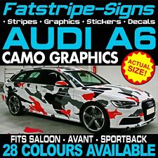 AUDI A6 CAMO GRAPHICS STRIPES STICKERS DECALS SALOON AVANT SPORTBACK S6 RS6
