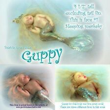 "4 1/2"" GUPPY BABY mermaid PRESS MOLD FOR POLYMER CLAY ONLY by Patricia Rose"