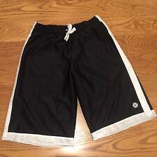 New listing Boys Black White Old Navy Athletic Active Gym Basketball Shorts Size L Large EUC