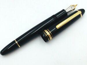 Y5597  MONTBLANC MEISTERSTUCK 147 Traveler Fountain Pen Black 14K Gold 585