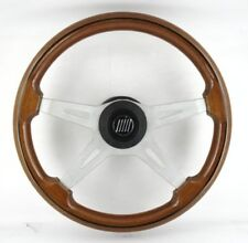 Genuine OBA Fiat wood rim steering wheel, 380mm. Great Condition. 4E