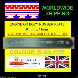 VW VOLKSWAGEN T2 T3 T4 T5 WINDSCREEN ENGINE BODY VIN-CHASSIS-PLATE STAMPED