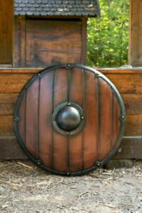 Medieval Viking Armour Shield Fully Functional Streight Shield For Battle Decor
