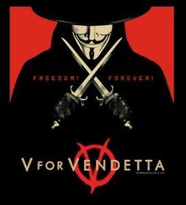 V For Vendetta - TM & DC COMICS  Womens T Shirt NEW