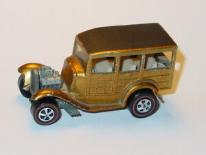 HOT WHEELS REDLINE CLASSIC 31 FORD WOODY -Gold Spectraflame, NICE!
