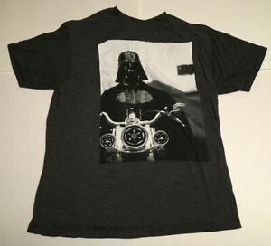 Large Star Wars Darth Vader Sith Motorcycle Short Sleeve Graphic Mens T-Shirt