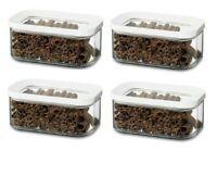 Mepal Modula Voratsdose Kunststoff 425 ml transparent/weiß 4er Set Aufbewahrung