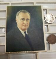 FDR first inauguration hard stock photo January 1933 original souvenir old coin