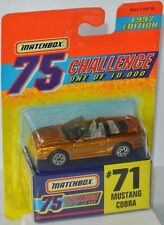 Matchbox 75 Challenge-Ford Mustang Cobra-oro-aprox. 1:64 - 1997 Edition