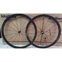 Ruote bici corsa strada Vision Trimax 35 gray road bike wheels shimano 10/11 s