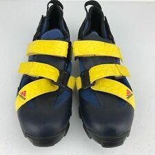 Vintage Adidas Mountain Biking Cycling Shoe Size 9.5 Black/Blue/Yellow Rare 1995