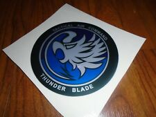 Sega Thunderblade Arcade Deluxe Decals Cockpit Sticker Thunder Tac badge