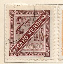 Cape Verde 1893 Early Issue Fine Used 2.5r. 154089