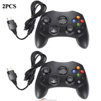 2pcs Dual Shock Black Wired Game Pad Controller For Microsoft Original Xbox