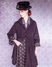 Victorian Trading Co April Cornell Aubergine Purple Jacket Corduroy S NIB